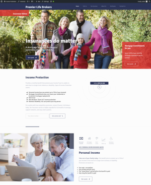 Landing page - Income Protection