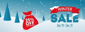 Winter Sale Special - Get 25% Off Everything
