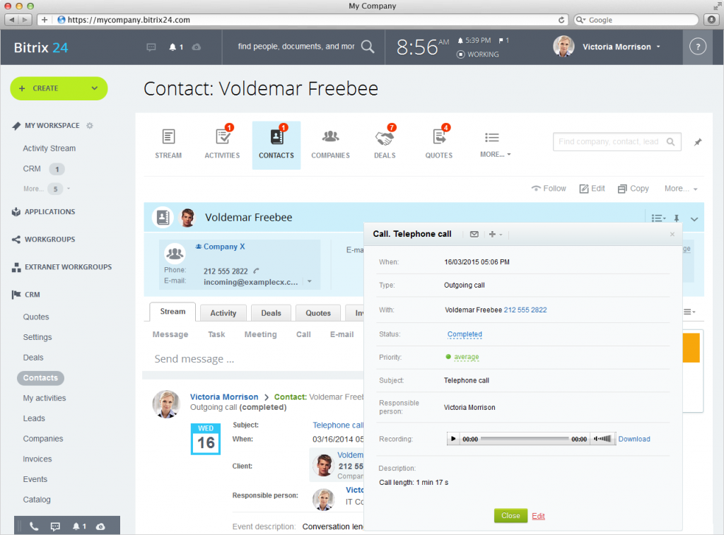contact database free